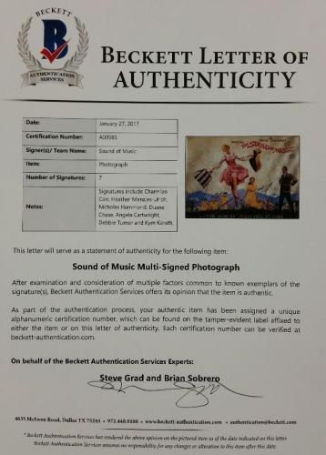 SOUND OF MUSIC Cast Signed 16x20 Photo (7) Image #1 Autos w/ Beckett BAS COA