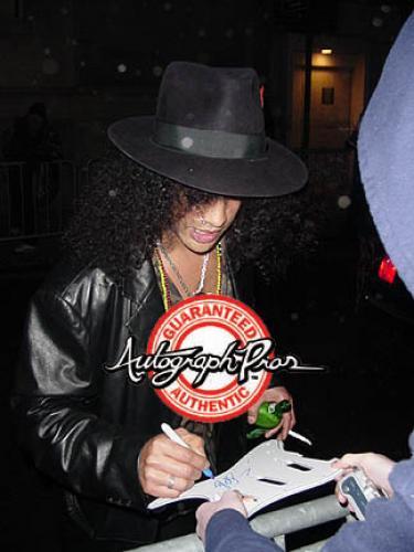 Guns N Roses Slash Signed Guitar + Display Shadowbox Case PSA AFTAL UACC RD