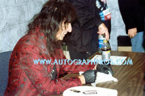Alice Cooper Autographed Signed Airbrushed Guitar AFTAL UACC RD ACOA