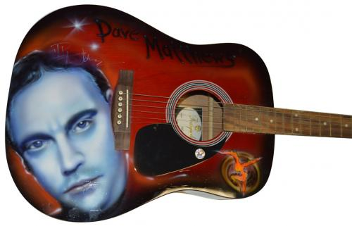 Dave Matthews Autographed Signed Airbrushed Acoustic Guitar AFTAL UACC RD COA