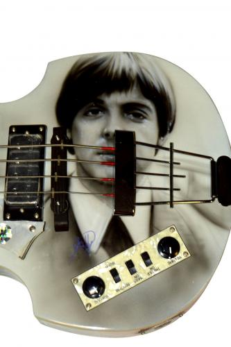 Paul McCartney Autographed Signed Hofner Bass Guitar AFTAL UACC RD COA