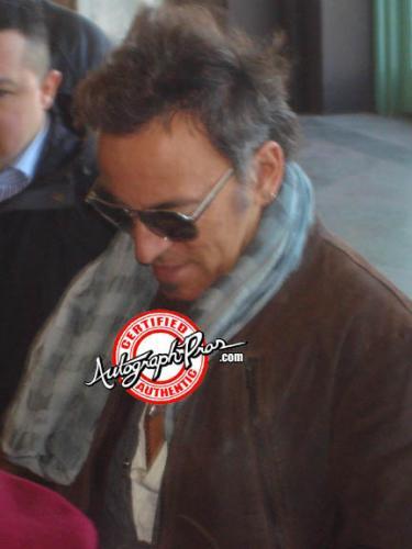 Bruce Springsteen Autographed Album Cover Display AFTAL UACC RD COA PSA