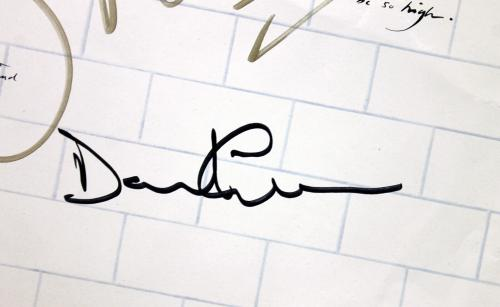 Roger Waters & David Gilmour Pink Floyd Signed The Wall Album Sleeve BAS #A02050