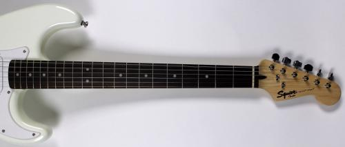 Keith Richards The Rolling Stones Signed White Fender Squier Guitar BAS #A00998
