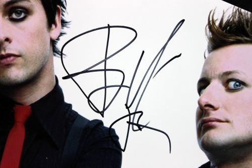 Green Day (3) Armstrong, Tre Cool & Dirnt Signed 16X20 Photo BAS #A02021