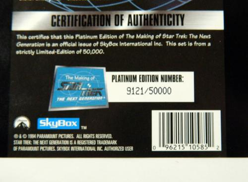 1994 The Making of Star Trek The Next Generation Platinum Edition Boxed Set Open