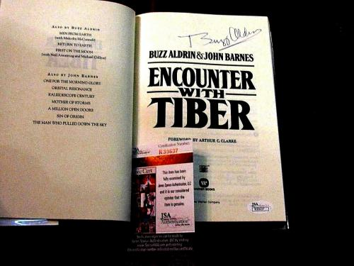 Buzz Aldrin Apollo 11 Astronaut Signed Auto Encounter With Tiber Book Jsa Beauty