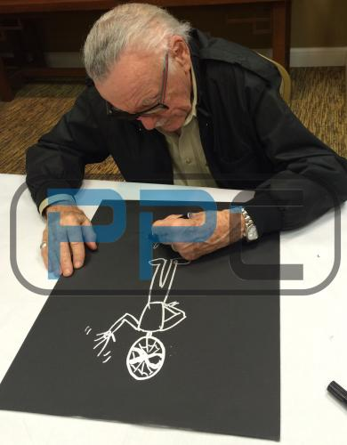 Stan Lee Signed 16x20 Canvas w/ Spider-man Sketch PSA/DNA #W00378