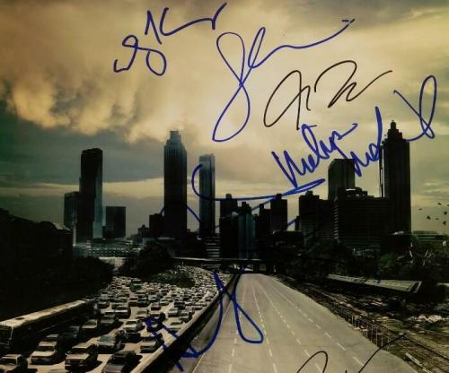 THE WALKING DEAD Cast (11) Signed 11x17 Photo Nicotero Lincoln Beckett BAS COA