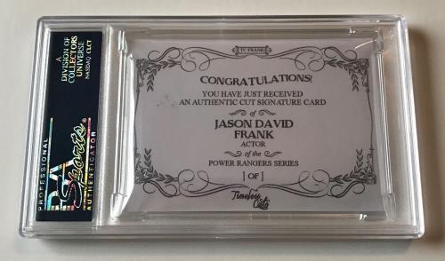 Jason David Frank Timeless Cuts Power Rangers Signed Custom CARD 1/1 PSA/DNA