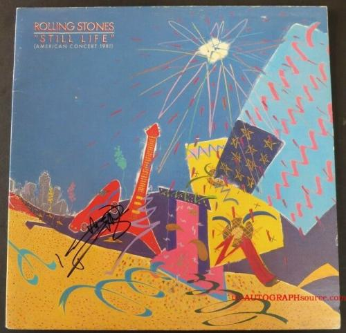 "Keith Richards Autographed Rolling Stones ""Still Life"" Live Album Signed PSA COA"