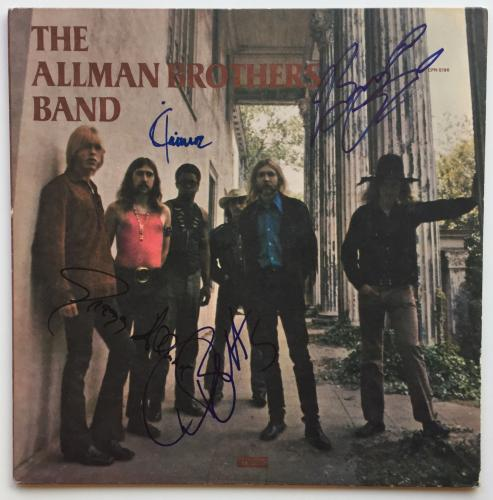 Allman Brothers Autographed Album Signed by 4 Gregg Betts Trucks Jaimoe PSA coa