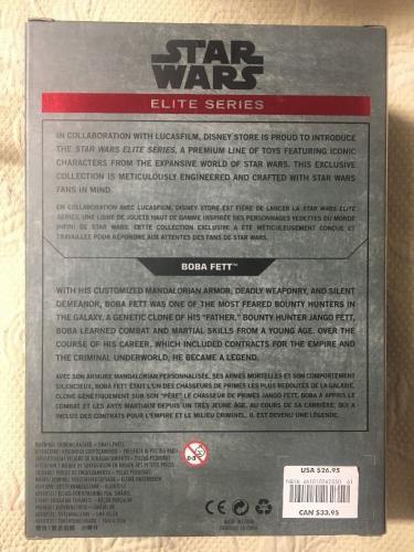 Jeremy Bulloch Signed Disney Star Wars Elite Series Boba Fett Figure Jsa Coa 2