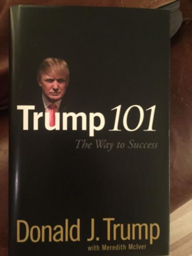 Trump 101 SIGNED autograph book by DONALD TRUMP JSA President