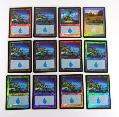 Lot of (117) Assorted Magic The Gathering MTG Invasion Foil Lands Island Swamp