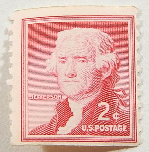 Over (400) 1954 Thomas Jefferson 2 cent Mint Coil Stamps #1033 ^ 2c Carmine Rose