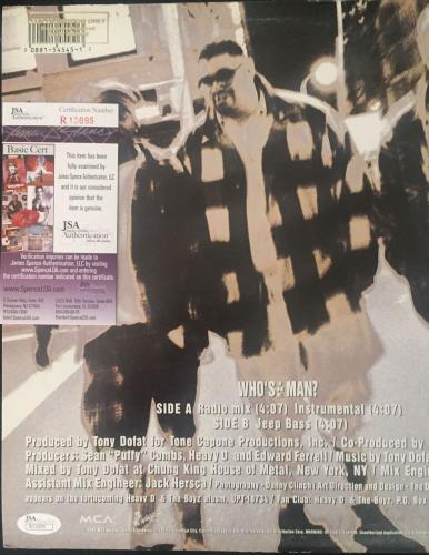 Heavy D Signed 'whos The Man' Album Cover Autograph Jsa Coa