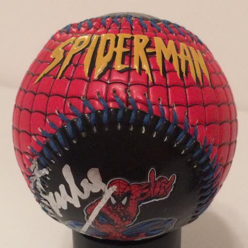 Stan Lee Signed Universal Studios Spider-Man Baseball Set Marvel Comics PSA