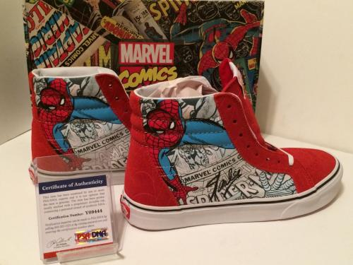 Stan Lee Signed Vans Sk8-hi Spider Man *Marvel Comics Shoes/Sneakers PSA Y09444