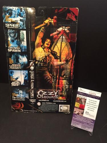 Ozzy Osbourne Signed McFarlane Toys Action Figure W/ Headless Bats JSA