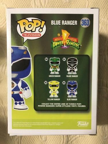 David Yost Signed Autographed Metallic Blue Ranger Funko Pop Power Rangers PSA 4