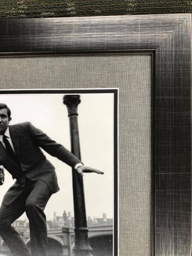 GEORGE LAZENBY- JAMES BOND 007 signed 11x14 custom framed display-PSA COA