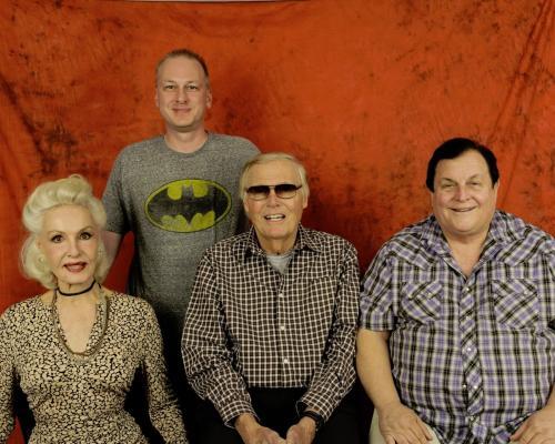Adam West Signed Autographed Batman Color Photo Bam Zoom!! To Bob