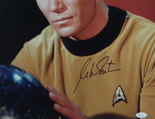 William Shatner Signed Star Trek 16x20 Up Close Posing *Blk Photo- JSA W Auth