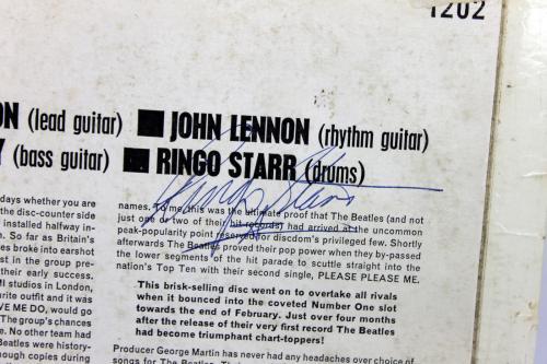 Ringo Starr The Beatles Signed Please Please Me Album Cover BAS #A81093