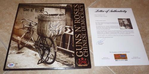 Axl Rose Guns Roses Chinese Democracy Autographed Signed LP Record PSA Certified