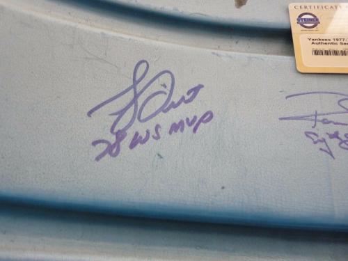 Yankees 1977-78 Team Signed X10 Seatback From Yankee Stadium W Insc. Steiner #2