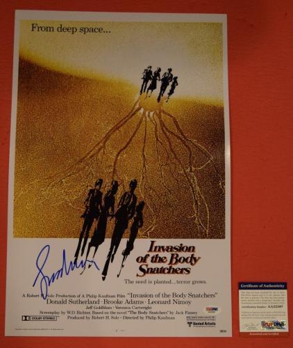 Leonard Nimoy Signed Invasion of the Body Snatchers 12x18 Movie Poster PSA/DNA