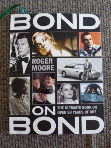 Roger Moore James Bond On Bond 007 Signed Autographed Book PSA Certified