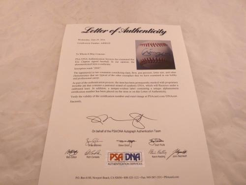 Eric Clapton Signed Autographed OMLB Ball Baseball PSA Certified Guitar Great