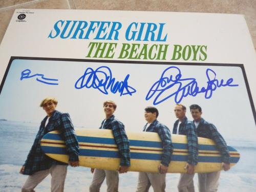 Beach Boys Brian Wilson Mike Love David Marks Signed Autograph LP PSA Certified