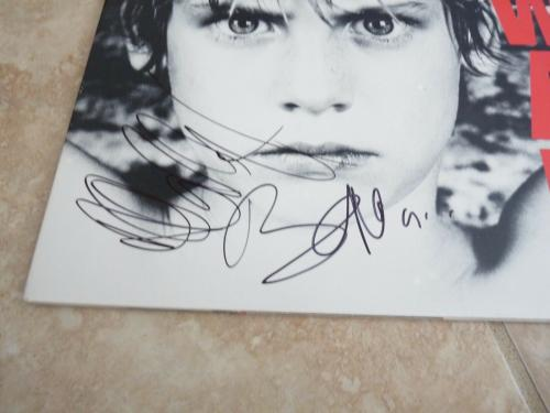 U2 Bono & Adam Clayton WAR Signed Autographed LP Album PSA Certified