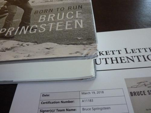 Bruce Springsteen Born To Run Signed Autographed HB Book BAS Beckett Certified
