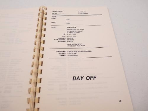 Cinderella 1989 Long Cold Winter Rock Band  Concert Tour Itinerary Book #6