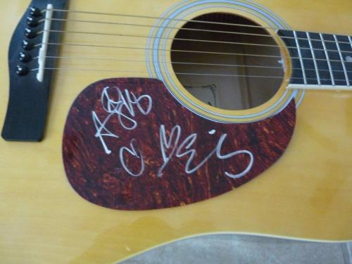 Eli Young Band All 4 Signed Autographed Acoustic Guitar PSA Guaranteed