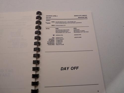 Guns & Roses RARE Use Your Illusion April 1992 Mini Concert Tour Itinerary Book