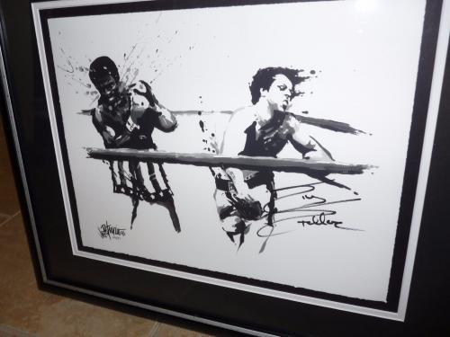 Sylvester Stallone Rocky Signed & Framed Joe Petruccio Artist Proof Print 6/27