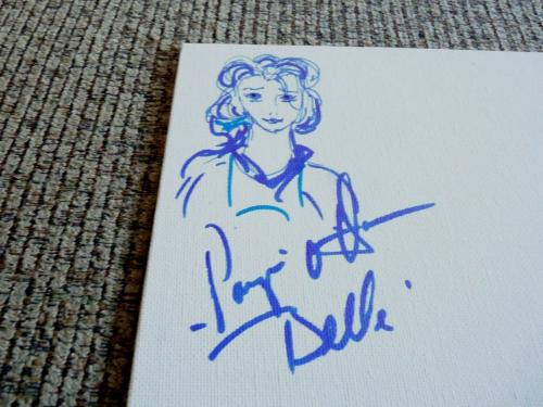 Paige O'Hara Belle Beauty Beast Signed Autographed  9x12 Sketch PSA Certified