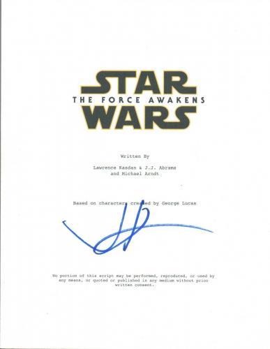 JJ ABRAMS J.J. Signed Autograph Star Wars The Force Awakens Movie Script COA