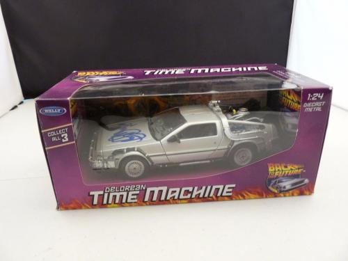 Michael J Fox Signed Back To The Future Diecast 1:24 Delorean Car PSA Certified