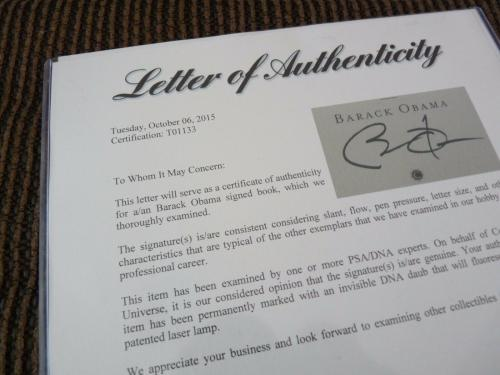 Barack Obama The Audacity Of Hope Signed 1st Edition HB Book PSA Certified