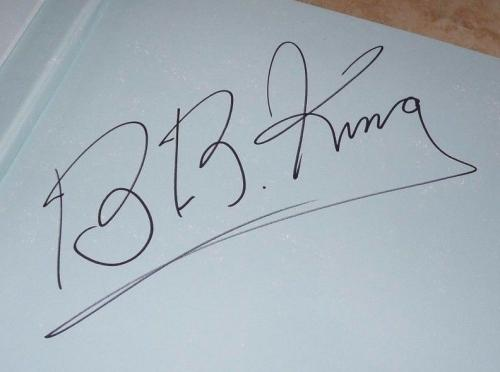 BB King Treasures Large Signed Autographed HB Book PSA Certified #1 Blues Great