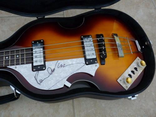 Paul McCartney The Beatles Signed Autographed Bass Guitar Frank Caiazzo COA