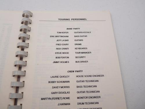 Cinderella 1988-89 Long Cold Winter Rock Band  Concert Tour Itinerary Book #1