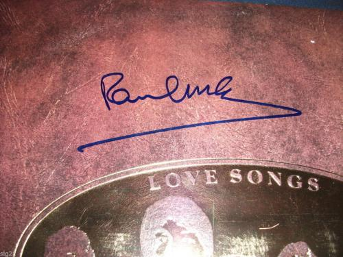Paul McCartney Beatles IP Signed Autographed Love Songs LP PSA Certified