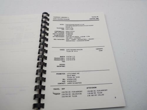 Motley Crue RARE DR Feelgood 1989-1991 World Concert Tour Itinerary Book #9